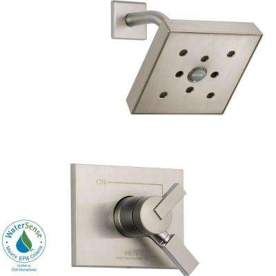 Vero 1-Handle H2Okinetic Shower Only Faucet Trim Kit in Stainless (Valve Not Included)