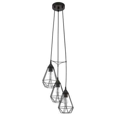 Tarbes 3-Light Matte Black Pendant