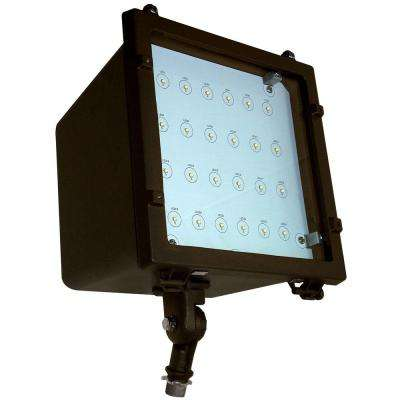 37-Watt Bronze Integrated LED Outdoor Adjustable Medium Flood Light