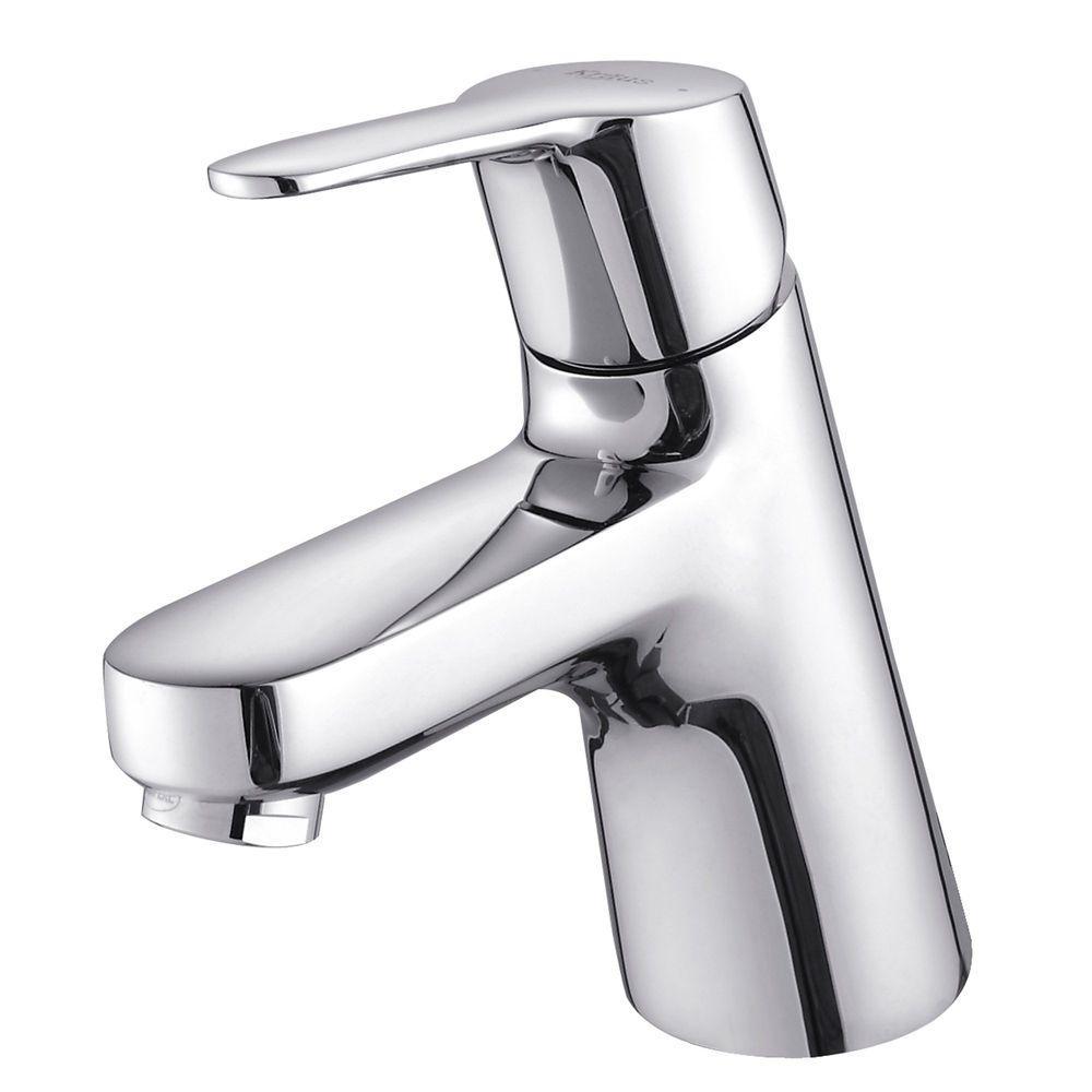 KRAUS Ferus Single Hole 1-Handle Low Arc Bathroom Faucet in Chrome