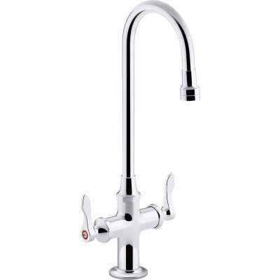 Monoblock Triton Bowe 1.0 GPM 2-Handle Single Hole Bathroom Faucet with Aerated Flow in Polished Chrome