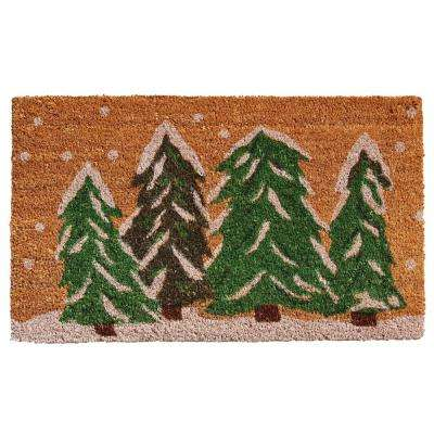 Winter Wonderland 24 in. x 36 in. Coir Door Mat