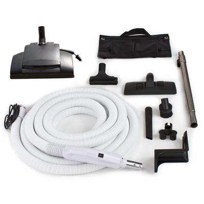 30 ft. Central Vacuum Hose Kit with Vessel Werk Power Nozzle Designed to fit all Brands