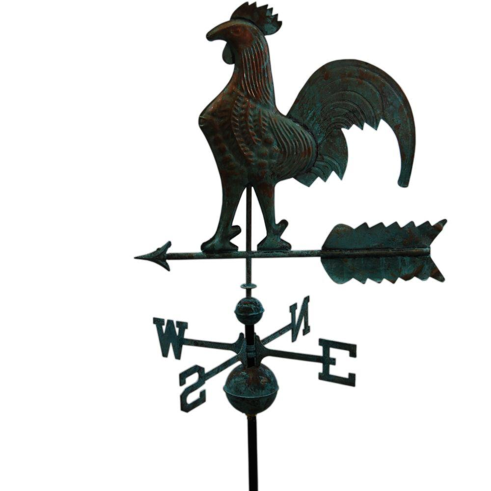 Augusta Homes & Gardens 22 In. W Rooster Copper Weathervane - Patina