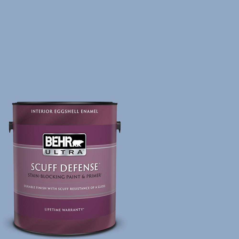 Behr Ultra 1 Gal Ppu15 13 Blue Hydrangea Extra Durable Eggshell Enamel Interior Paint And Primer In One 275401 The Home Depot