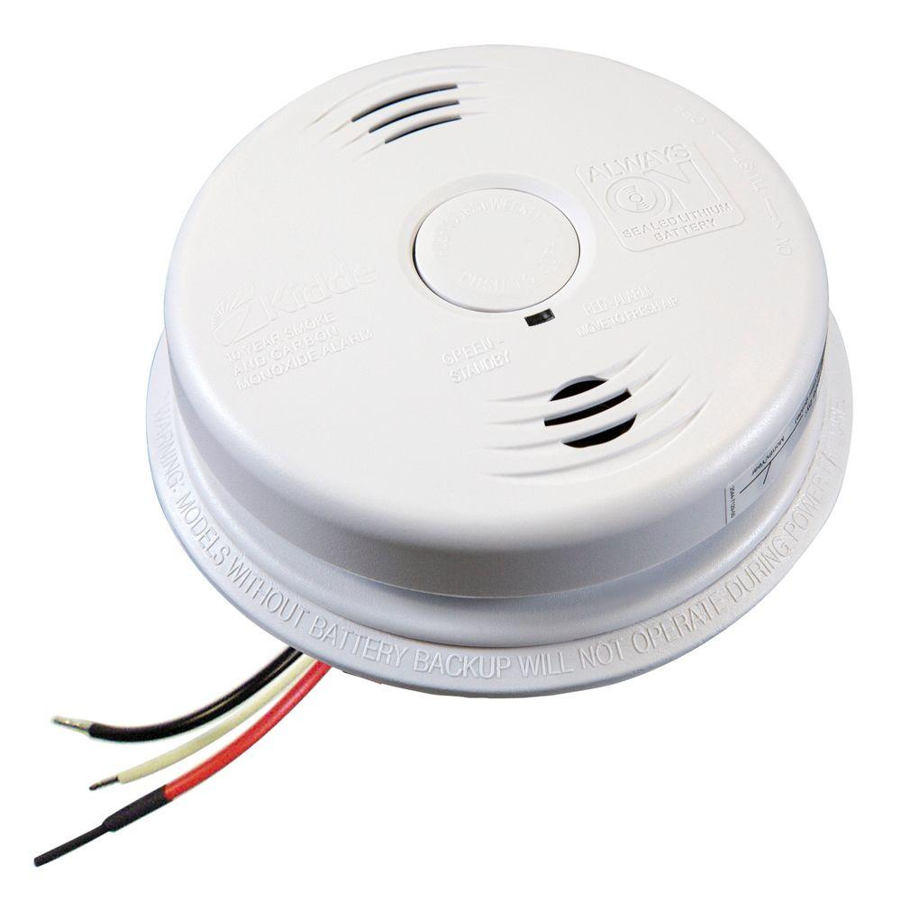 Hardwired Interconnected Combination Smoke and Carbon Monoxide Alarm 10-Year