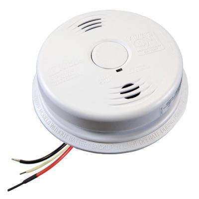 Worry Free Hardwire Smoke and Carbon Monoxide Combination Detector with 10-Year Battery Backup and Voice Alarm