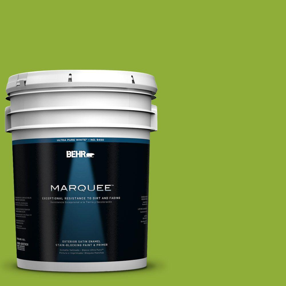 BEHR MARQUEE 5-gal. #420B-6 New Green Satin Enamel Exterior Paint