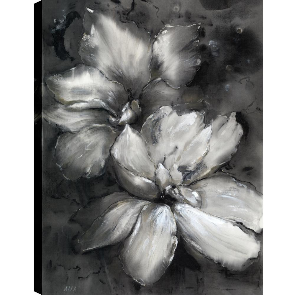 Black And White Florals Fresh Printed Canvas Wall Art Dcor Gallery