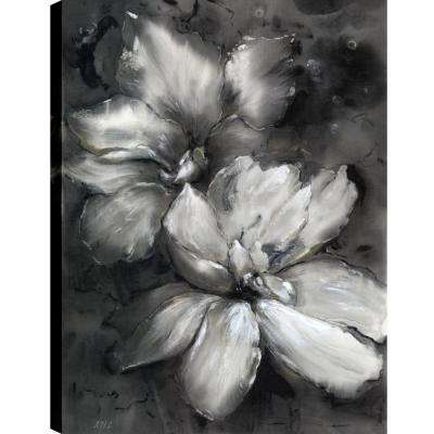 Black and White Florals, Fresh Printed Canvas Wall Art Dcor, Gallery Wrapped Wall Art