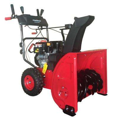 24 in. Two Stage Electric Start Gas Snow Blower with Power Assist