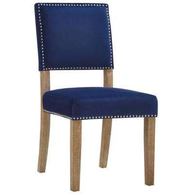 Oblige Navy Wood Dining Chair