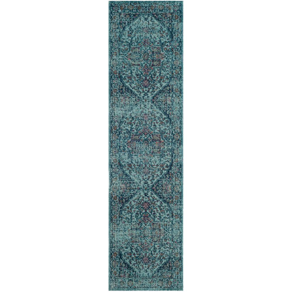 Artisan Light Blue 2 ft. x 8 ft. Runner