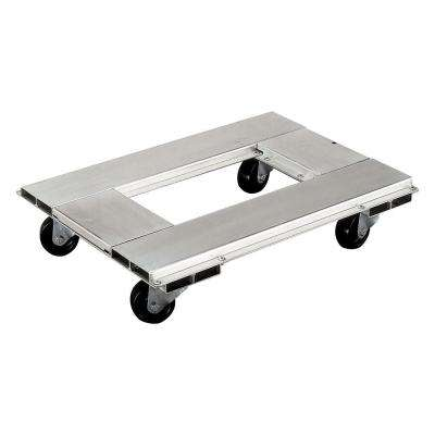 900 lb. Capacity 18 in. x 24 in. Caster Dolly with 3 in. Polyolefin Swivel Casters