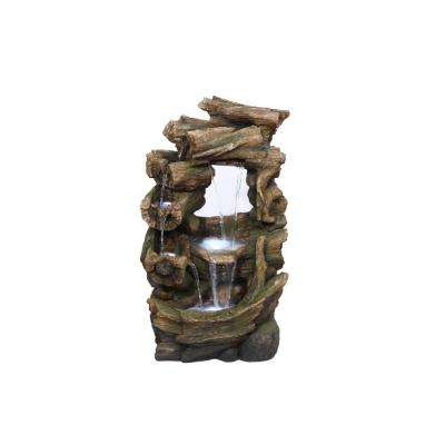Alpine 39 in. Tall Rainforest Waterfall Fountain with LED Lights