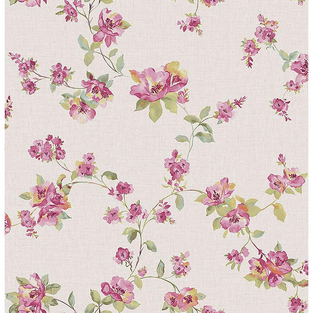 Wen Pink Festival Floral Wallpaper Sample
