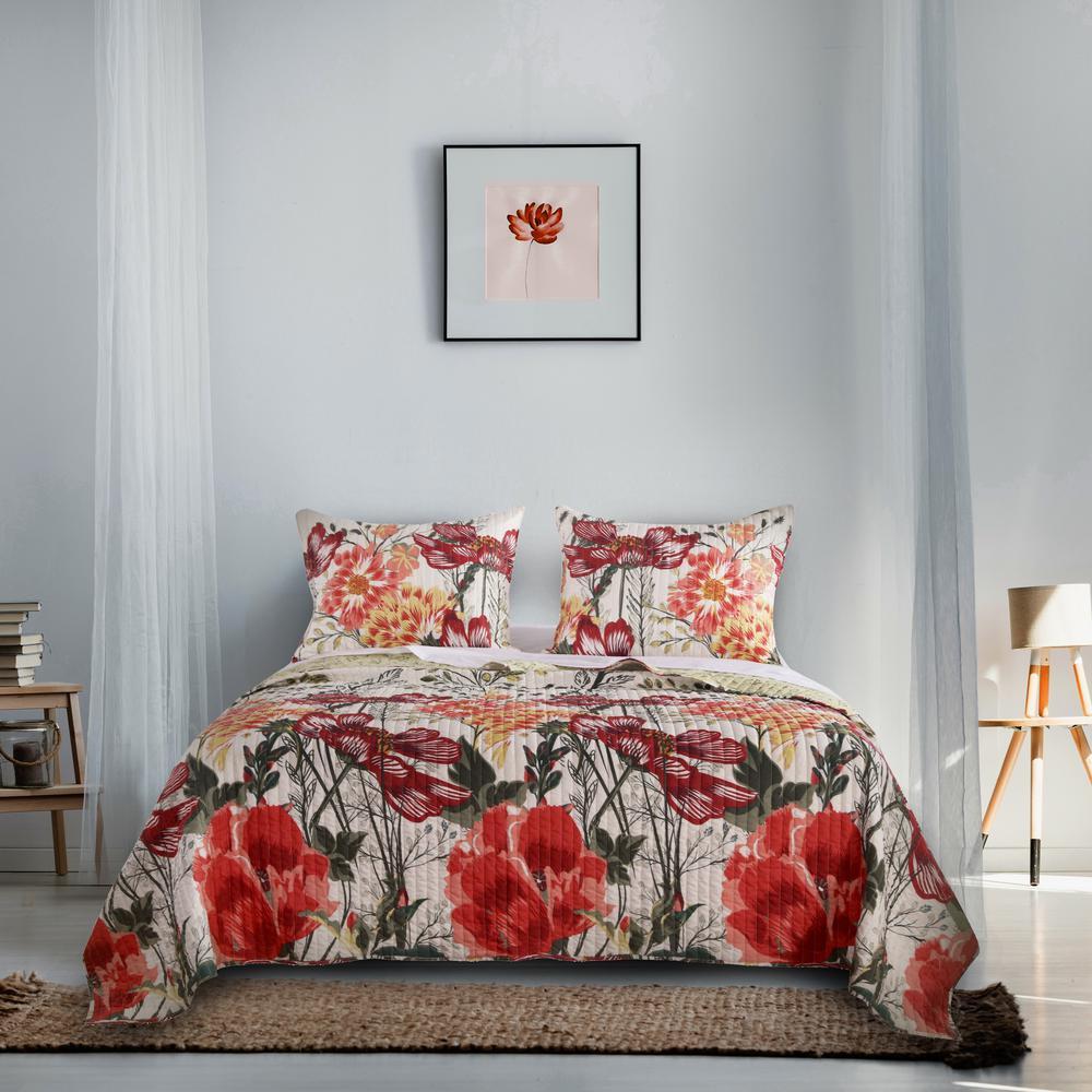 Barefoot Bungalow Meadow Quilt Set, 3-Piece King GL-1805GMSK