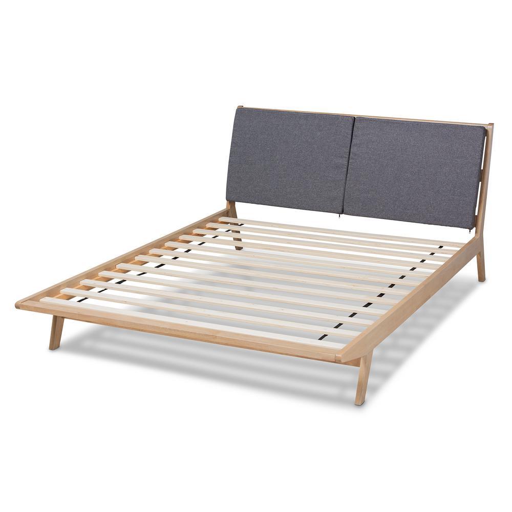 Baxton Studio Emile Grey King Size Platform Bed 162 10305 Hd The Home Depot
