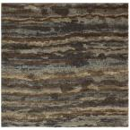 Stria Grey 8 ft. x 8 ft. Square Area Rug