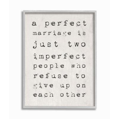 """16 in. x 20 in. """"A Perfect Marriage"""" by Daphne Polselli Framed Wall Art"""