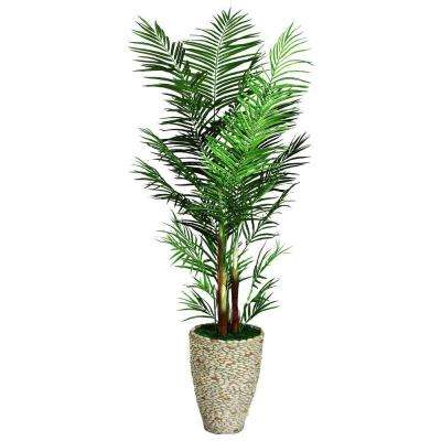 90 in. Tall Areca Palm Tree in 16 in. Fiberstone Planter