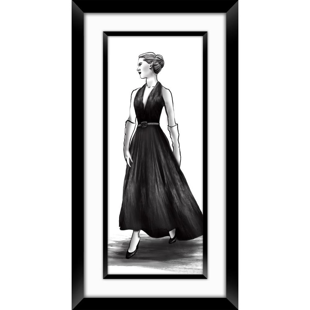 "PTM Images 32-1/2 in. x 17-1/2 in. ""Fashion Sketch A"" Framed Wall Art"