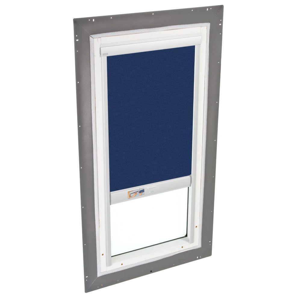 VELUX 22-1/2 x 46-1/2 in. Fixed Pan-Flashed Skylight Tempered LowE3 Glass Blue Solar-Powered LightFiltering Blind-DISCONTINUED