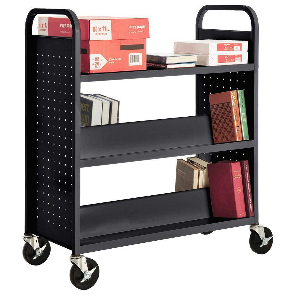 Black Mobile Steel Bookcase