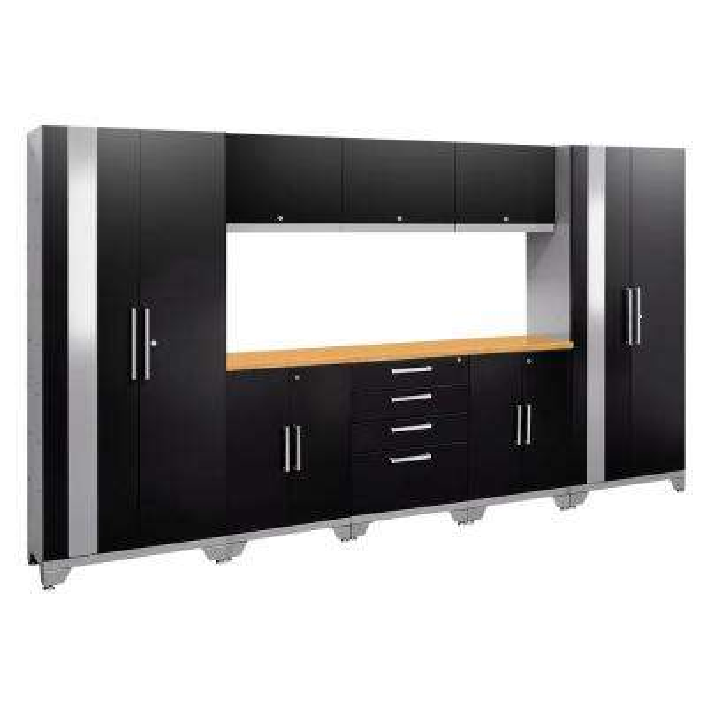 Performance 2.0 72 in. H x 132 in. W x 18 in. D Garage Cabinet Set in Black (9-Piece)