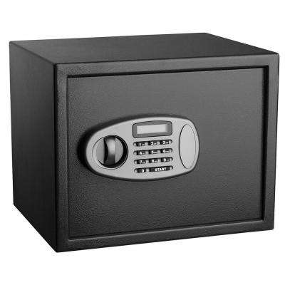 1.25 cu. ft. Steel Security Safe with Digital Lock, Black