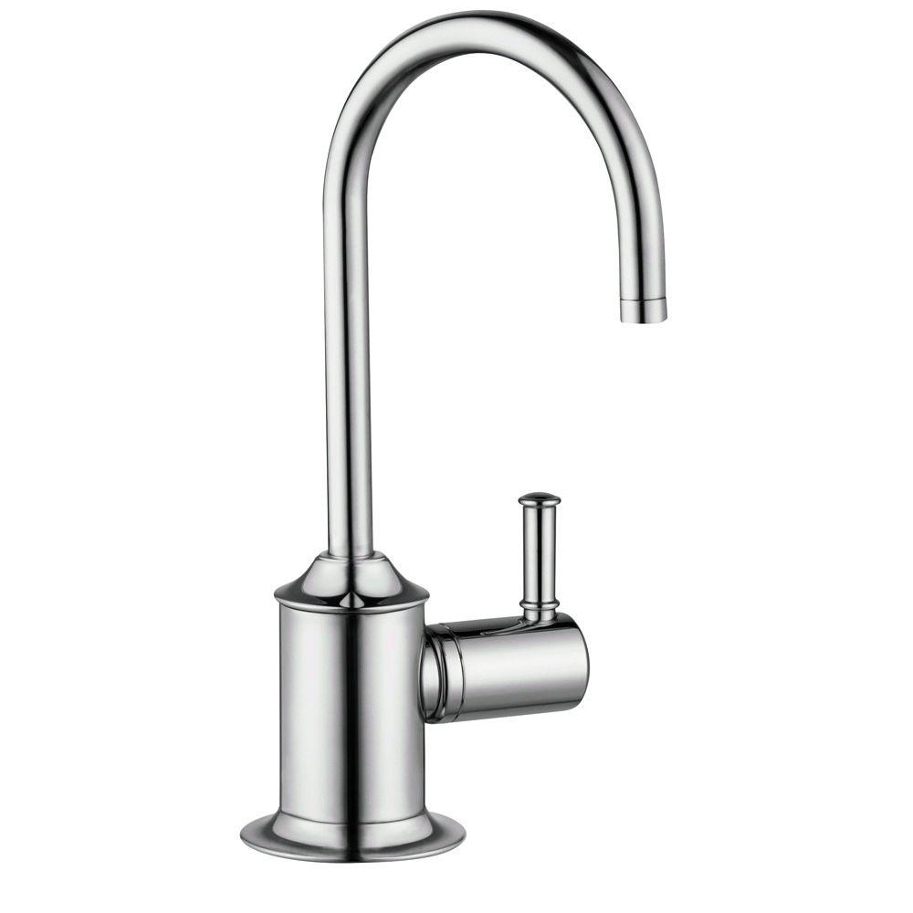 1-Handle Hot Water Dispenser Faucet in Polished Nickel