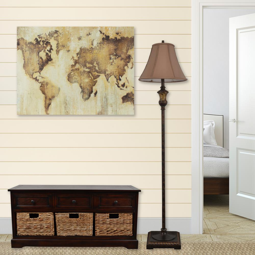 Decor therapy 40 in x 30 in map of the world stretched for Decor therapy