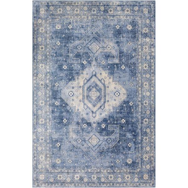 Artistic Weavers Zoraida Blue 7 Ft 10 In X 10 Ft 2 In Medallion Area Rug S00161022301 The Home Depot