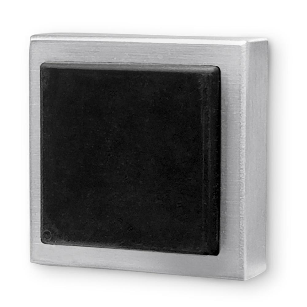 Strongar Square Brushed Satin Stainless Steel Wall Mounted Stop For Doors 5 Pack