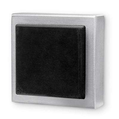 Square Brushed Satin Stainless Steel Wall Mounted Stop for Doors (5-Pack)