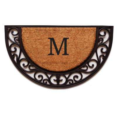 Plantation Arch Monogram Door Mat 18 in. x 30 in. (Letter M)