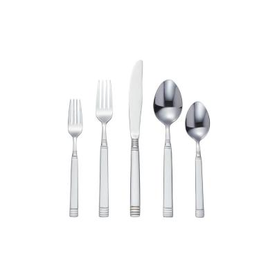 StyleWell 20-Piece Stainless Steel Flatware Set with Decorative Handle (Service for 4)