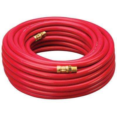 1/4 in. x 50 ft. Red Rubber Hose with 1/4 in. NPT Fittings