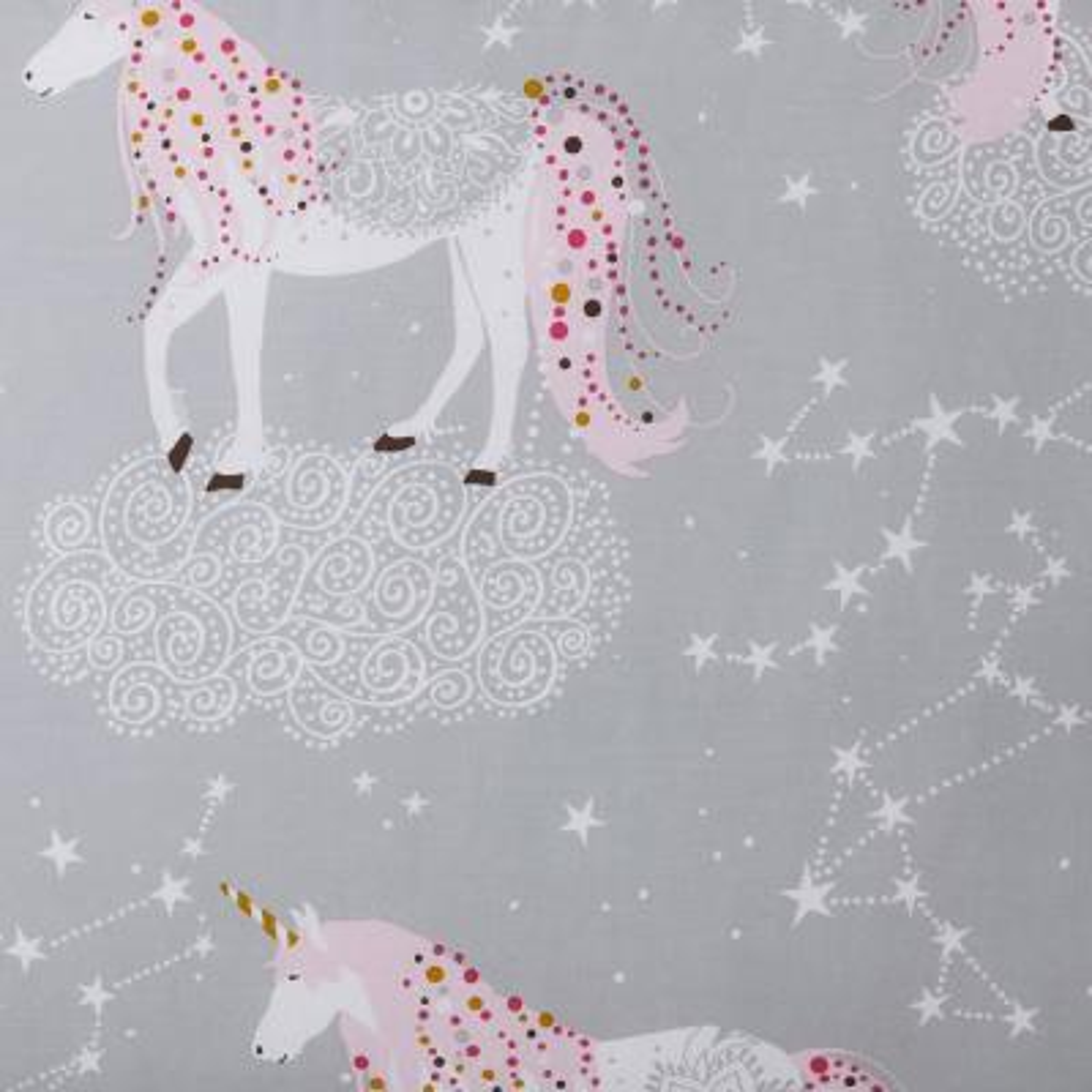 Unicorn Magic 200-Thread Count Organic Cotton Percale Duvet Cover