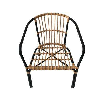 30.25 in. Natural Brown Metal Chair