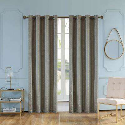 Elite 95 in. L x 54 in. W Semi-Opaque Room Darkening Polyester Curtain in Aloe