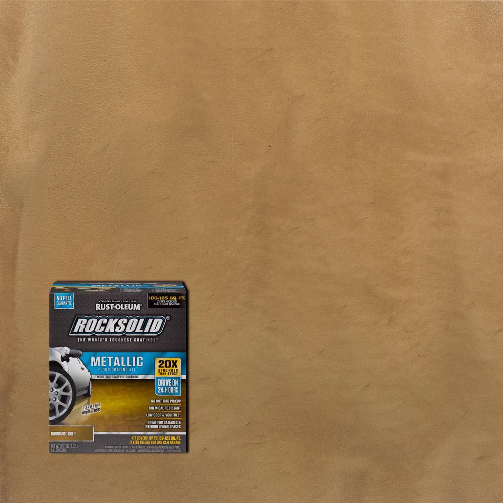 Rust oleum rocksolid 70 oz metallic burnished gold garage floor kit metallic burnished gold garage floor kit case of 2 solutioingenieria Choice Image