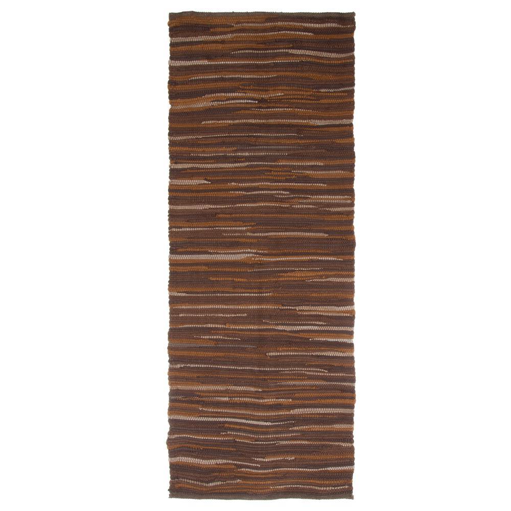 Chindi Tonal Chocolate 2 ft. x 5 ft. Runner