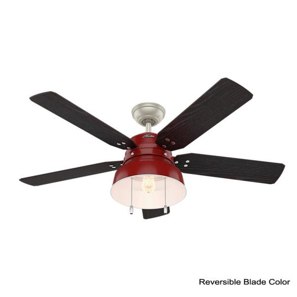 Led Indoor Outdoor Barn Red Ceiling Fan