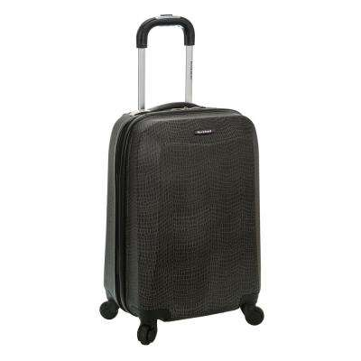 Vision 20 in. Crocodile Hardside Carry-On Suitcase