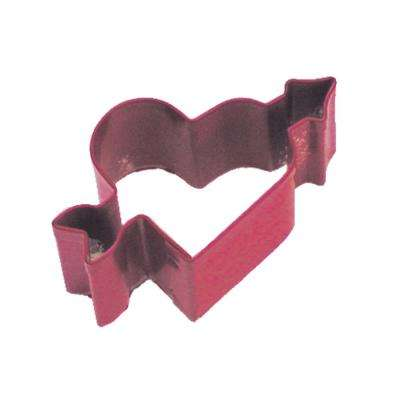 12-Piece Mini Heart/Arrow Red Polyresin Cookie Cutter/Recipe