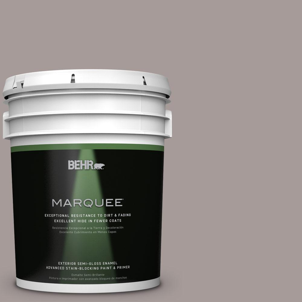 BEHR MARQUEE 5-gal. #PPU17-12 Smoked Mauve Semi-Gloss Enamel Exterior Paint