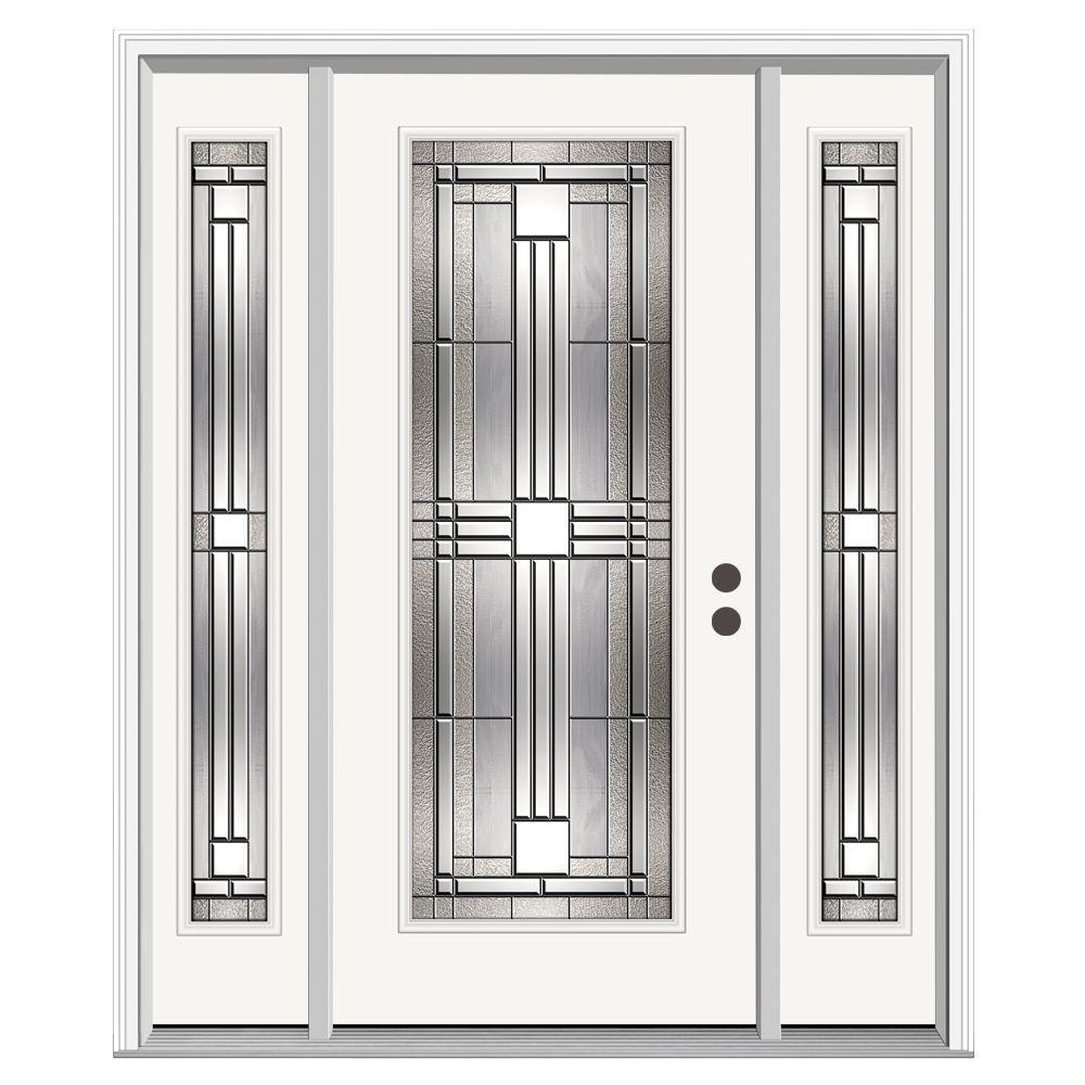 Jeld wen 62 in x 80 in full lite cordova primed steel for Jeld wen front entry doors