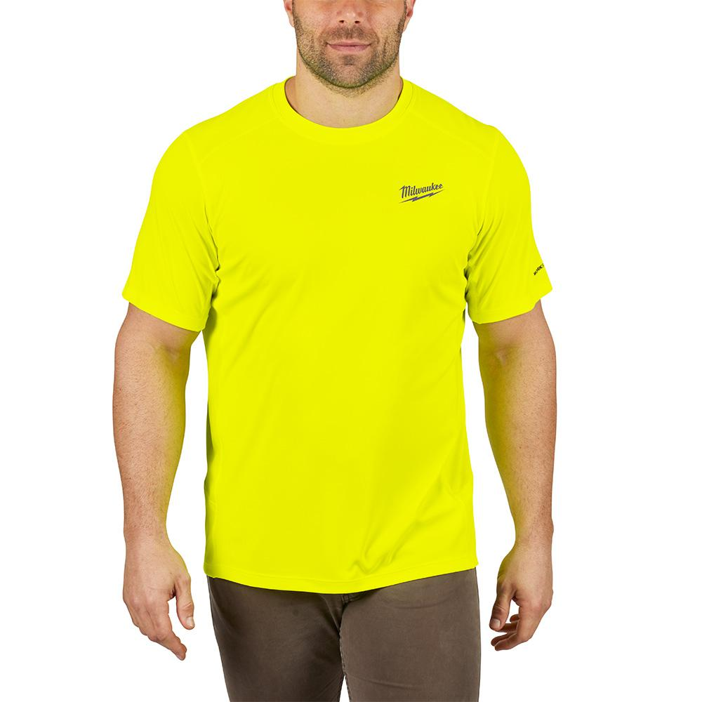 petite Milwaukee Men's Extra Large Hi-Vis GEN II WORKSKIN Light Weight Performance Short-Sleeve T-Shirt, Yellow was $29.97 now $19.97 (33.0% off)