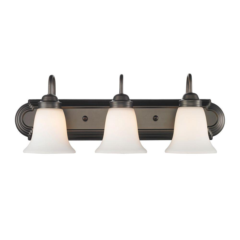 null Yvonne 3-Light Oil Rubbed Bronze Incandescent Bath Vanity Light